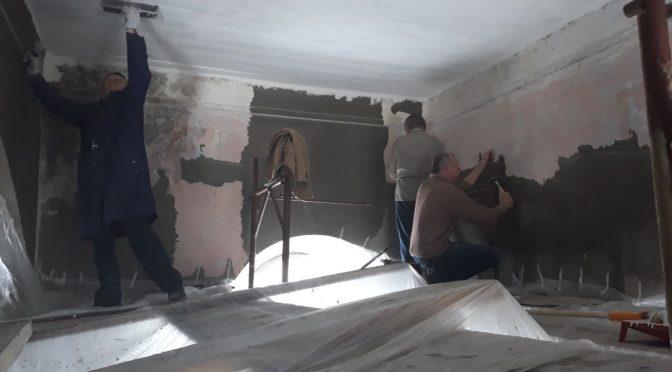 Ремонтные работы в Лаздонском храме