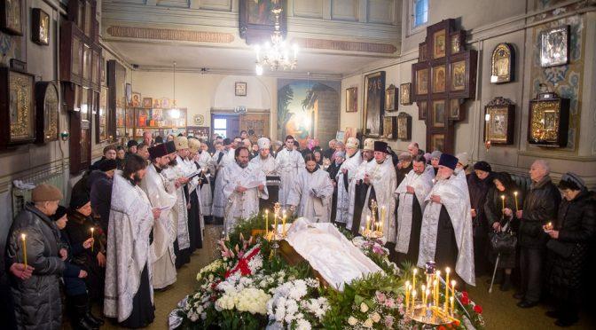 Совершено погребение прот.Григория Касаткина