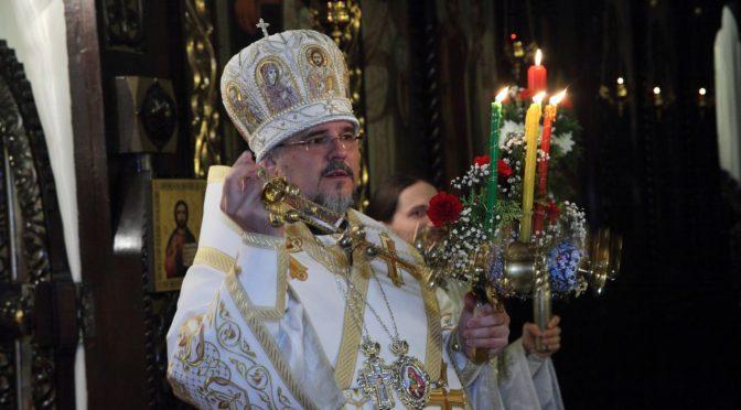 Пасхальное богослужение в Борисо-Глебском соборе