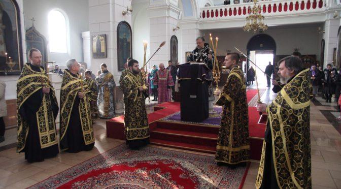 Чтение 12-ти Страстных Евангелий в Борисо-Глебском соборе