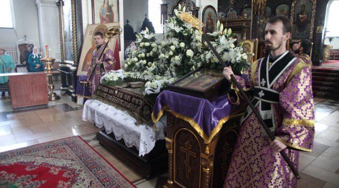Вечерня Великой Пятницы и утреня Великой Субботы накануне Благовещения в Борисо-Глебском соборе