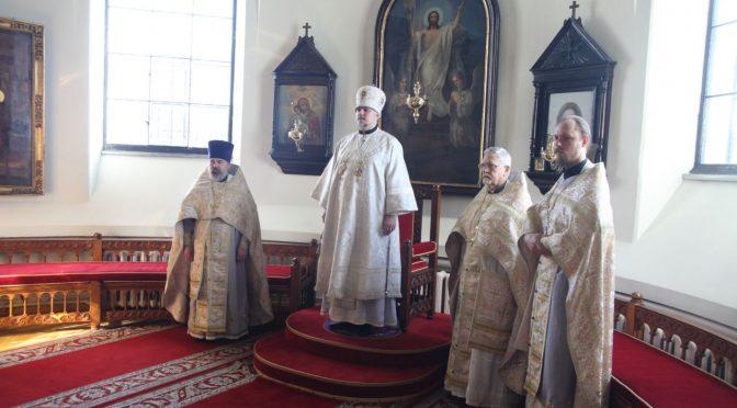 Вечерня и Литургия в Великую Субботу и Благовещение в Борисо-Глебском соборе