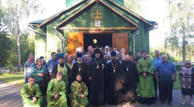 Всенощное бдение Пятидесятницы в Ильинском храме посёлка Тюршино