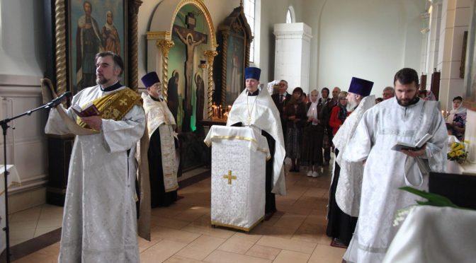 Молебен на открытие Дней белорусской культуры
