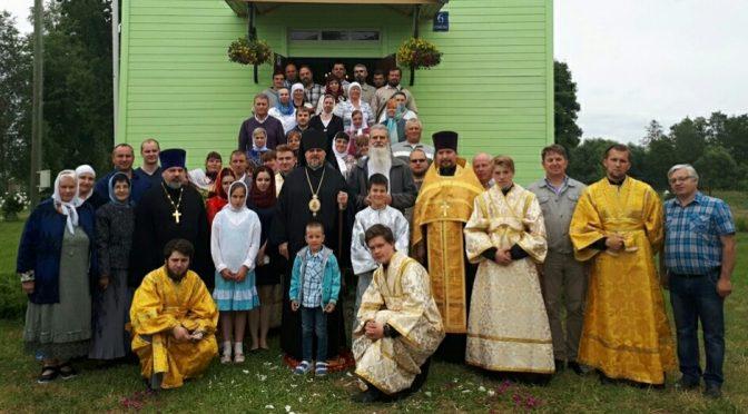 Богослужение в храме Святой Троицы посёлка Тискады в память 140-летия со дня освящения