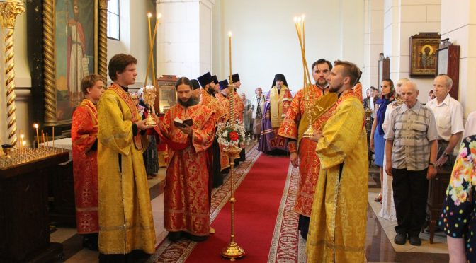Всенощное бдение накануне храмового праздника Борисо-Глебского собора