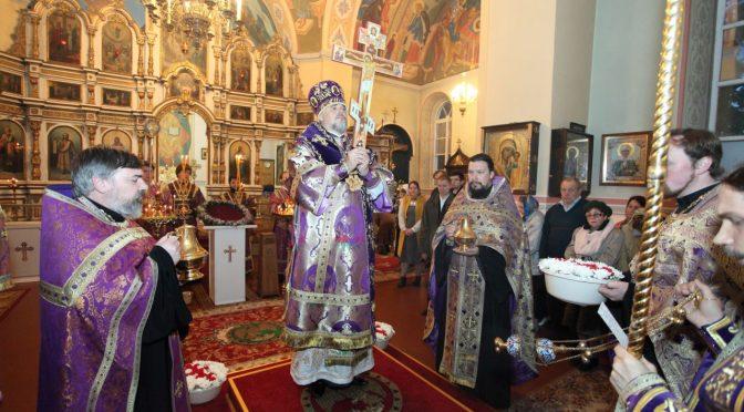 Чин Воздвижения Креста в Лудзенском храме
