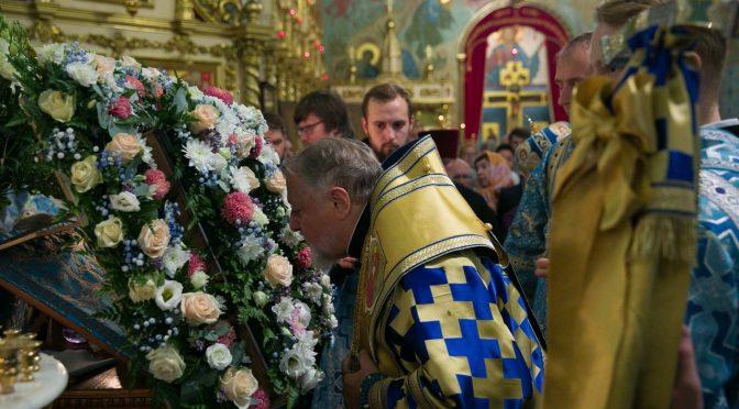 Всенощное бдение по случаю сретения чудотворной иконы Пресвятой Богородицы «Знамение» Курско-Коренной в Риге