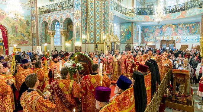 Сонмом Архипастырей совершено Всенощное бдение в канун дня памяти святого священномученика Иоанна Рижского