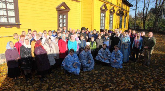 Храмовый праздник в посёлке Скрудалиена