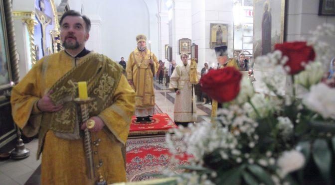 Всенощное бдение в Борисо-Глебском соборе