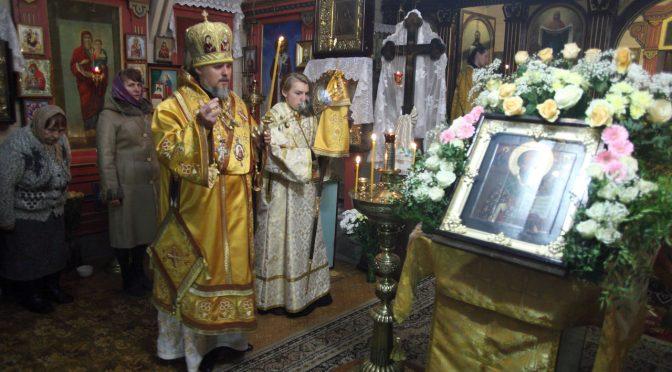 Всенощное бдение в Свято-Никольском храме на Гриве города Даугавпилса