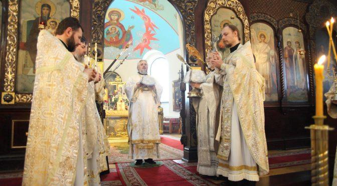 Литургия в Борисо-Глебском соборе