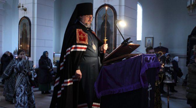 Чтение покаянного канона Андрея Критского в Борисо-Глебском соборе