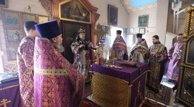 Литургия Преждеосвященных Даров в Никольском храме на Гриве