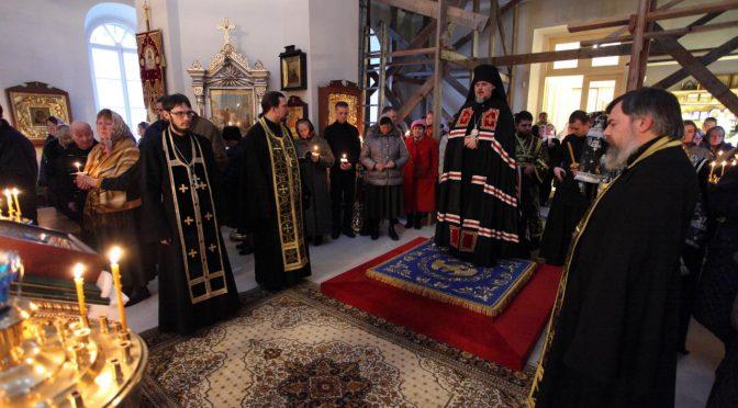 Чтение канона Андрея Критского в Резнкне