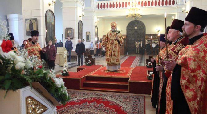 Всенощное бдение в канун престольного праздника Борисо-Глебского собора