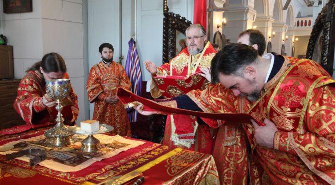 Литургия в день памяти святых Бориса и Глеба