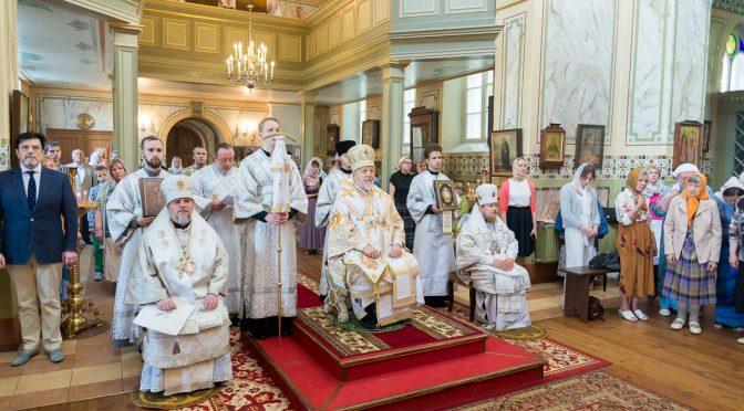 Архиерейское богослужение в Рижском Вознесенском храме