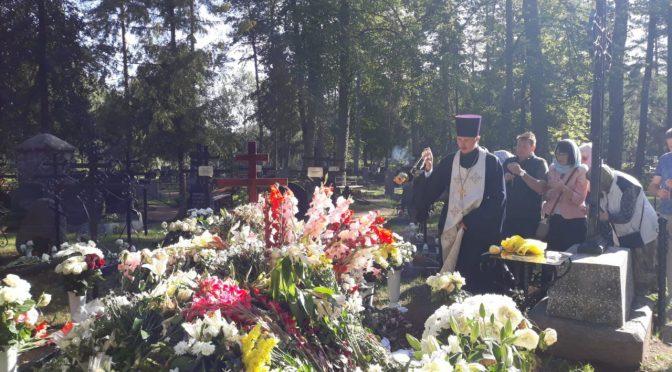 Божественная литургия и панихида в Илукстском монастыре