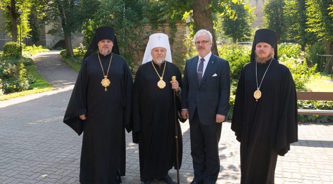 Президент Латвии Эгил Левитс нанёс визит Митрополиту Александру