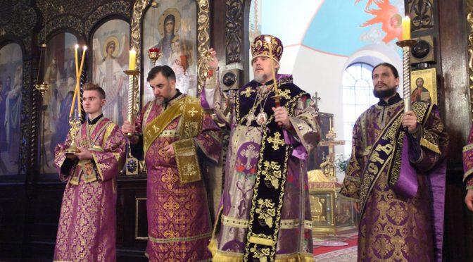 Всеношное бдение в Борисо-Глебском соборе