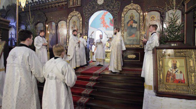 Богослужения Навечерия Рождества Христова (Рождественского сочельника) в Борисо-Глебском соборе