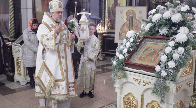 Богослужения в праздник Рождества Христова в Борисо-Глебском соборе