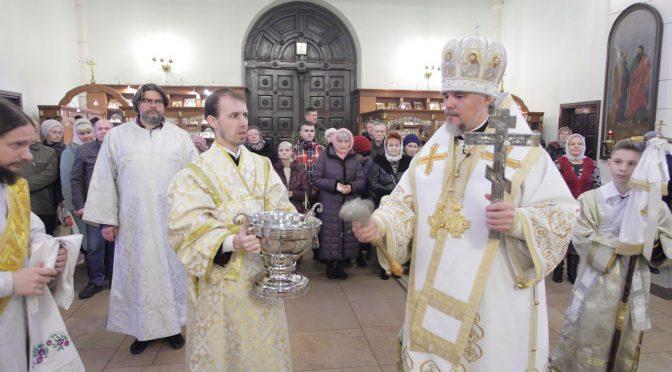 Богослужение в Навечерие Богоявления в Даугавпилсском кафедральном соборе