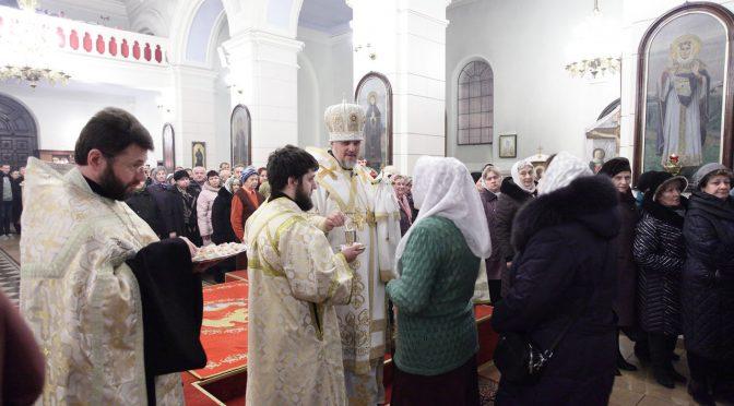 Всенощное бдение накануне Богоявления в Борисо-Глебском соборе