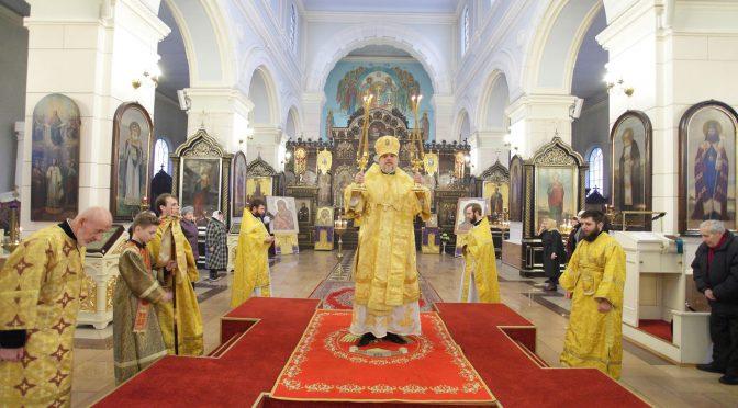 Литургия в Борисо-Глебском соборе Даугавпилса