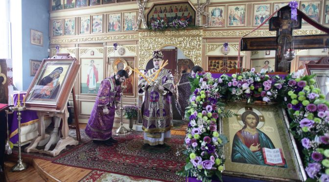 Божественная литургия Преждеосвященных Даров в Даугавпилсском Свято-Успенском храме