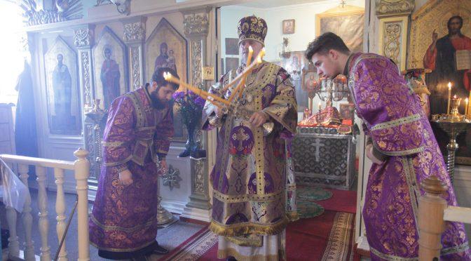 Божественная Литургия Преждеосвященных Даров в Илустском монастыре