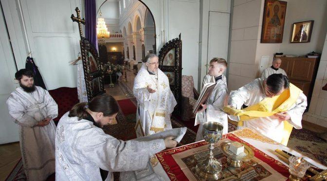 Богослужение Великой Субботы в Борисо-Глебском соборе