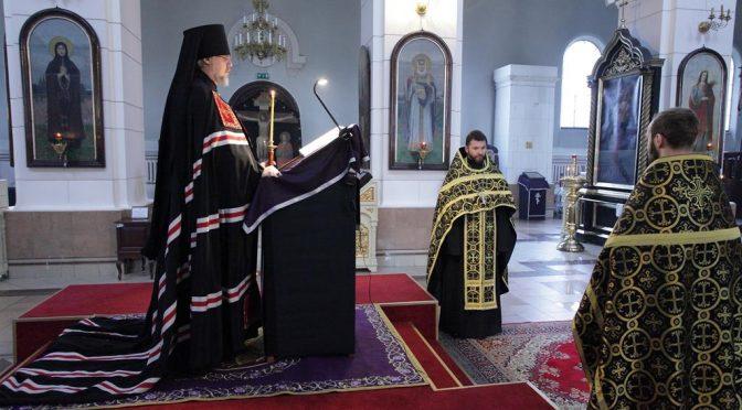 Чтение Великого покаянного канона в Борисо-Глебском соборе