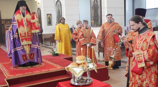Всенощное бдение в Борисо-Глебском соборе в канун престольного праздника