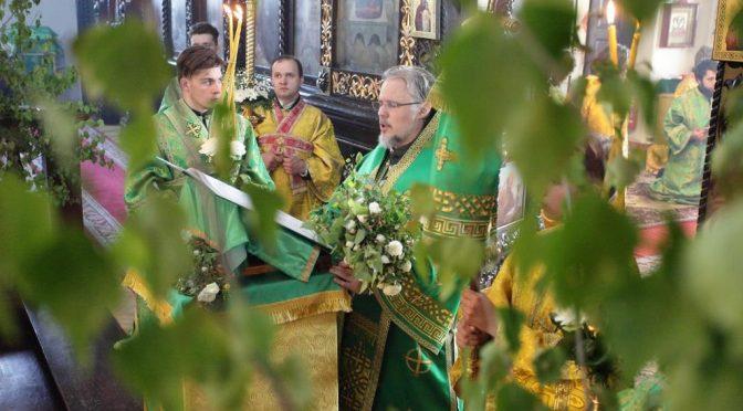 Богослужение в День Святой Троицы в Борисо-Глебском соборе
