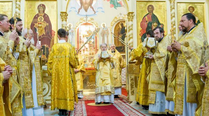 Литургия в годовщину Архиерейской хиротонии Митрополита Рижского и всея Латвии Александра