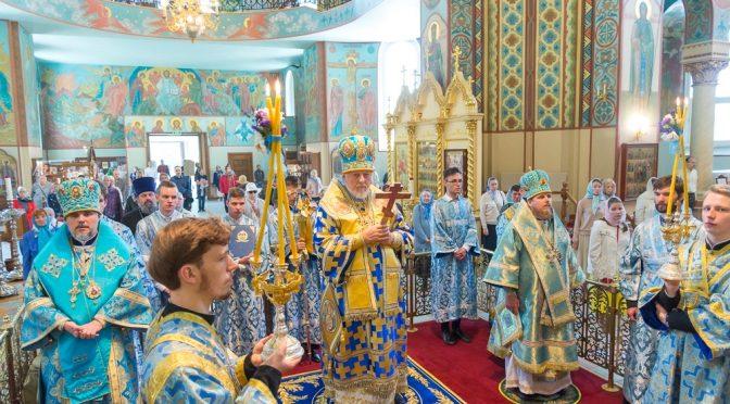 Божественная литургия в день празднования Тихвинской иконы Пресвятой Богородицы