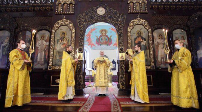 Божественная литургия в  Даугавпилсском кафедральном соборе