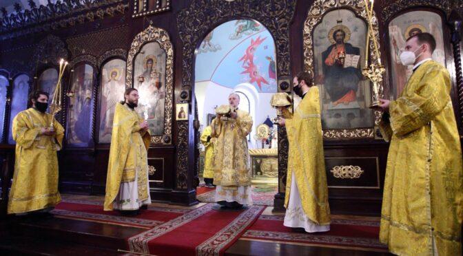 Божественная литургия в Даугавпилсском Борисоглебском соборе