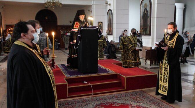 Епископ Александр завершил чтение Великого покаянного канона на первой седмице поста