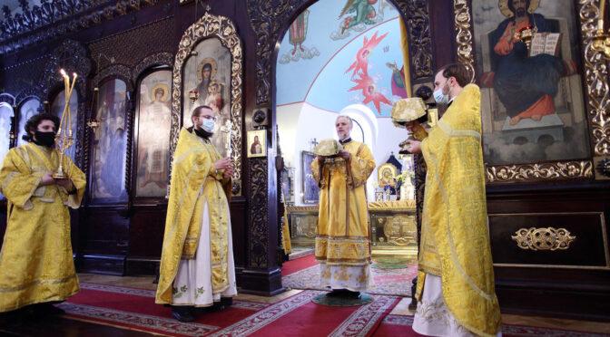Богослужение в неделю Торжества Православия в кафедральном соборе города Даугавпилса