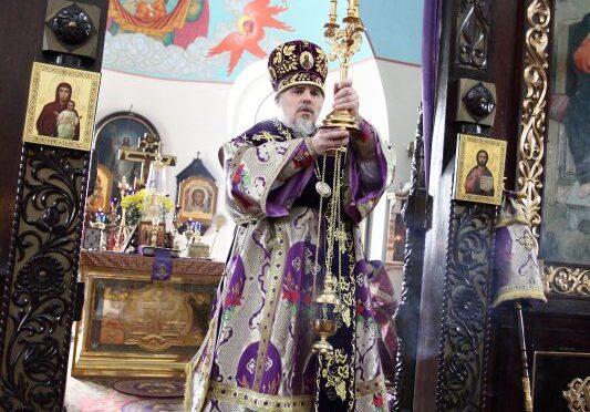 Литургия Преждеосвященных Даров архиерейским чином в Даугавпилсе