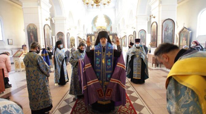 Всенощное бдение накануне праздника Благовещения Пресвятой Богородицы