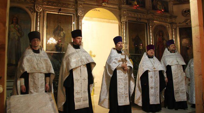 Соборная Рождественская Великая вечерня в Резекне