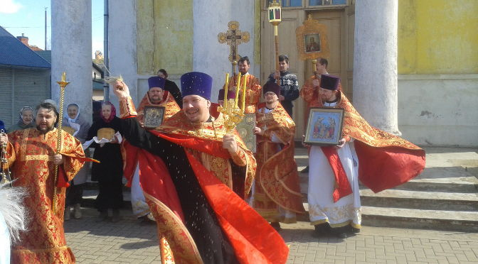 Соборное Пасхальное богослужение вЛудзе