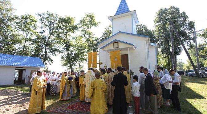 Освящение восстановленного Свято-Никольского храма в Липушках