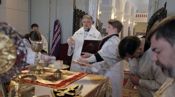 Богослужение навечерия Богоявления в Борисо-Глебском соборе