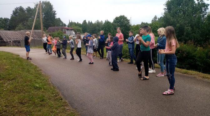 Второй день Резекненско-Старослободского детского лагеря